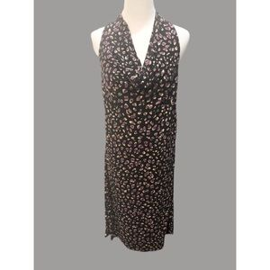 Ann Taylor sleeveless cowl neck spotted dress